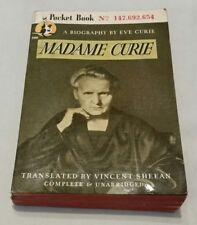 """VINTAGE 1946 POCKET BOOK: """"MADAME CURIE: A BIOGRAPHY"""" BY EVE CURIE #ED 147692654"""