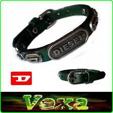 New DIESEL Genuine Leather Bracelet Green Bangle Wristband Mens Womens Surf BD10