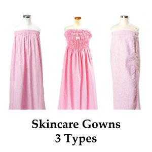 Pink Spa Gowns Bathrobe Bath Wrap Esthetician Spa Skincare Gowns