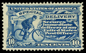 Scott E6 1902 10c Special Delivery Perforated 12 Issue Mint VF OG LH Cat $230