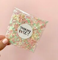 Biodegradable Paper Confetti Wedding Bag PACKET Pastel Pink Mint Yellow Glassine