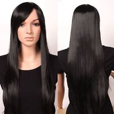 HE-J1078   hot sell long black straight hair lady wigs for women wig