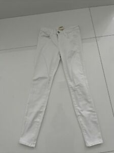 L'AGENCE WHITE Chantal Low Rise SKINNY Jeans 25 Lightly Worn!