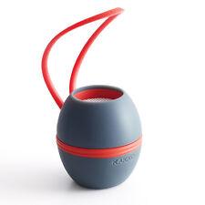 KAKKOii Loop'D Bluetooth Speaker - Charcoal Grey & Red
