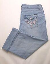 J212 Angels Jeans Low Rise Cropped Capri Super Stretch Tag sz 18W (Mea 34.5x21)