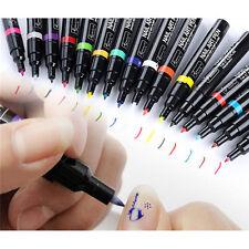 16 Colors Nail Art Pen Painting Design Drawing Pencil UV Gel Polish Manicure BI