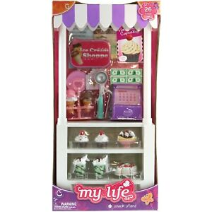 My Life Doll Snack Stand Ice Cream 26 Pc Set fits American Girl Doll NIB