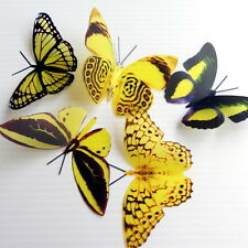 100 Pack Butterflies - Lemon - 5 to 6 cm - Cakes, Weddings, Crafts, Cards,
