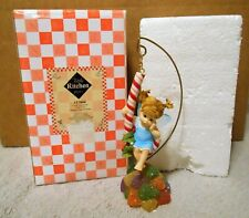 """My Little Kitchen Fairies """"Candy Cane Fairie"""" 117866 Hanging Ornament & Stand"""