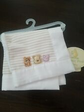 Classic Winnie The Pooh NWT Cream Baby Lovey Satin Square Patch Ivory plush new