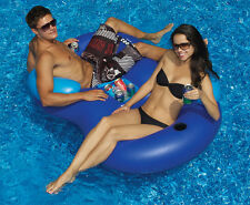 Swimline 16412SF Solstice Double Tube Swimming Pool 2 Person Cooler Combo Float