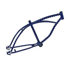 "Blue 20"" Twisted Bicycle Frame Lowrider Cruiser Bikes"