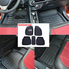 5Pcs Universal Front Rear FloorLiner Black Car Interior Mat Carpet Floor Mats
