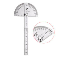 Stainless Steel Protractor Ruler Angle Finder 180 Degree Rotary Measuring Tool