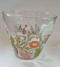 "Dorothy Thorpe rare glass flower pot wildflowers 6"" tall"