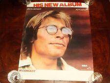 "Rare Vintage JOHN DENVER ""Autograph"" 1980 RCA RECORDS PROMO POSTER"