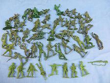 Lot of Plastic Toy Army Men 51 pcs plus a gun