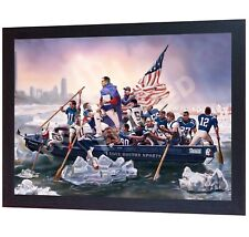 Tom Brady New England Patriots NFL not signed printed Canvas 100% cotton Framed