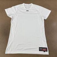Under Armour Authentic Men's Size Large White Mesh Short Sleeve Athletic Shirt
