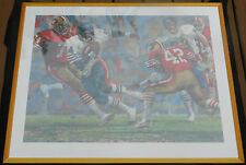Vintage Walter Payton Chicago Bears Lithograph By Sear Roebuck & Company - 1986