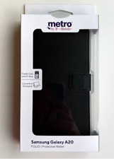 Metro by T-Mobile Samsung Galaxy A20 Leather Wallet Phone Case (new)