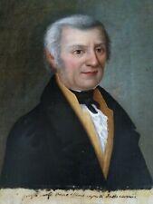 Anno 1834,ritratto di gentiluomo dipinto ad olio su tela,scuola Italiana XIX sec