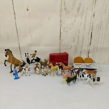 Animal Farm Play Set New Ray Schleich Breyer Horses Cows Sheep trailers etc.Lot