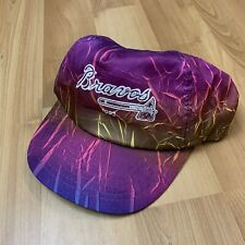 Vintage Richmond Braves Hat Adjustable Purple Multicolor Baseball 1993 Minor