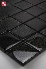 piastrelle in vetro a mosaico GALAXY Scintillante effetto glitter schwarz1m ²