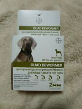 Bayer Expert Care Quad Dewormer Puppies & Large Dogs over 45 lbs ( 2 tablets ) ~