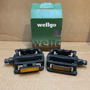 "Wellgo B197T Resin Bike Pedal Set 9/16"" - BMX or Mountain Bikes -Excellent Shape"