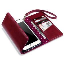 Fundas con tapa color principal rojo de piel sintética para teléfonos móviles y PDAs