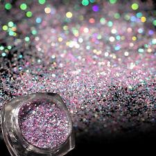 Light Purple Holographic Laser Powder Dust for Acrylic UV Gel Decoration Tips