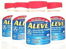 ALEVE CAPLETS 4 X 100 (400 TOTAL) NAPROXEN SODIUM 220 mg EXP 11/18 OR LATER