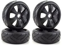 Apex RC Products 1/8 On-Road Black Aggressor Wheels/Super Grip Tires #6024 2Pack