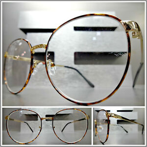 OVERSIZED EXAGGERATED RETRO Style READING EYE GLASSES READERS Gold Oval Frame