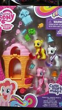 My Little Pony Pinkie Pie, Sweetie Belle, & Apple Bloom Rolling Sweets Cart NEW