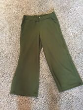 John Paul Richard Size Small Green Textured Cropped Pants