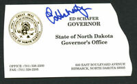 Ed Schafer signed autograph Governor of North Dakota Business Card BC506
