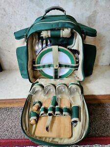 Concept 4 Person Picnic Backpack Cool Bag - Green