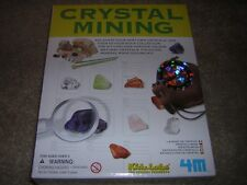 CRYSTAL MINING KIT by 4M /KidzLabs #3564 Dig Study Display Gift NIP/NEW