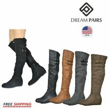 DREAM PAIRS Women's Fashion Over The Knee Boots Suede Pull On Slouchy Boots