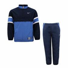 Nike Boys Tracksuit Half Zip Track Top Pants Navy Blue 494334 451 L