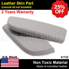 Leather Armrest Center Console Lid Cover Fits for Acura MDX 2007-2013 Light Gray