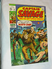 Captain Savage and his Battlefield Raiders #18 VG The Death Camp