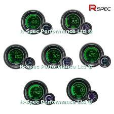 Cualquier oferta de calibre 3 52 mm ProSport Evo LCD Verde/Blanco Presión Turbo Boost Temp