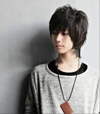 Handsome Boys Wig New Korean Fashion Short Men Natural Black Hair Cosplay Wigs
