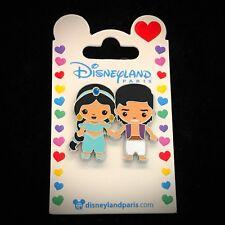 DLP Cutie Couple Princess Jasmine Aladdin Cute DLRP Paris Disneyland Disney Pin