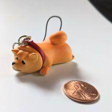 Lazy Shiba Inu Mini Figure Toy Keychain Charm