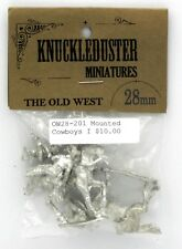 Knuckleduster OW28-201 Mounted Cowboys I [Wooly Chaps] (Old West) Gunslingers